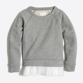 J.Crew Factory Girls' tulle-hem sweatshirt