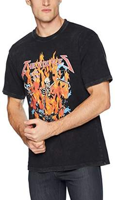 The Kooples Men's Men's Cotton Graphic t-Shirt with Burning Skeleton Motif