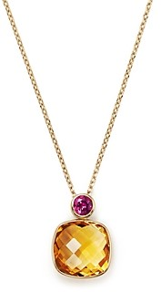 Bloomingdale's Citrine & Rhodolite Geometric Pendant Necklace in 14K Yellow Gold, 16 - 100% Exclusive