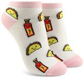 Forever 21 Taco & Hot Sauce Ankle Socks