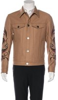 Versace 2016 Wool & Camel Embroidered Jacket w/ Tags