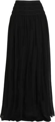 Oscar de la Renta Gathered Silk Maxi Skirt