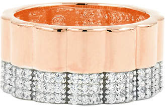 Freida Rothman Radiance Wide Band Ring, Size 6-8, Rose Gold