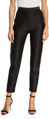 Brandon Maxwell High Rise Cropped Skinny Pants