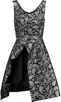 Stella McCartney Asymmetric cotton-blend brocade dress