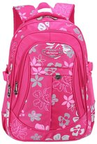 Tibes Nylon Backpack Student Backpack Printed Girls Backpack for Children