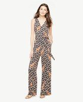 Ann Taylor Home Dresses Petite Tropical Sleeveless Belted Jumpsuit Petite Tropical Sleeveless Belted Jumpsuit