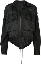 Vera Wang draped windbreaker