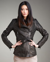 Burberry London Leather Motorcycle Jacket