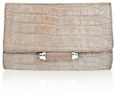 Judith Leiber Couture Sloane Mini Metallic Crocodile Evening Clutch Bag