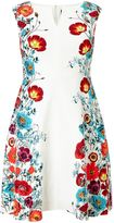 Adrianna Papell Floral trimmed fit and flare dress
