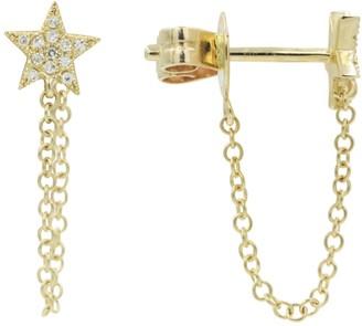 Kamaria Star Chain Studs In Diamonds