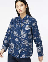 Monsoon Dahlia Print Linen Shirt