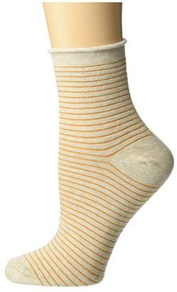 Richer Poorer Hari Ankle (Oatmeal/Gold) Women's Crew Cut Socks Shoes