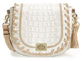 Brahmin Mini Sonny Leather Crossbody Bag - Ivory