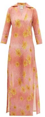 Hotel Particulier La Costa Del Algodon - X Cluny Floral-print Kaftan - Womens - Pink Print