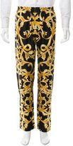 Versace Baroque Print Silk Pants