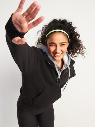 Old Navy Loose Quarter-Zip Micro Performance Fleece Sweatshirt for Women