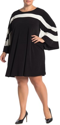 Nina Leonard Jewel Neck Miracle Matte Jersey Dress (Plus Size)
