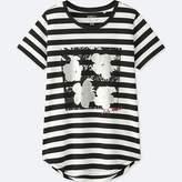 Uniqlo Women's Sprz Ny Silver Factory Graphic T-Shirt