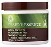 Desert Essence Natural Tea Tree Oil Facial Cleansing Pads Original