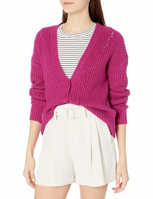 Kensie Women's Button Front Cable Knit Cardigan