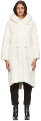 Mr & Mrs Italy White Nick Wooster Edition Shearling Parka