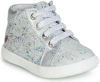 GBB MEFITA girls's Shoes (High-top Trainers) in Silver