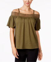 Cable & Gauge Cold-Shoulder Top