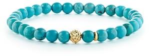 Lagos Caviar Icon Turquoise Bracelet with 18K Gold Caviar Station