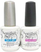 Harmony Gelish .5 Base & Top Coat Gel SET Nail Salon Uv Manicure Polish Soak Off