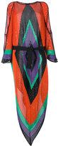 Balmain geometric shoulder slit dress - women - Polyamide/Viscose - 36