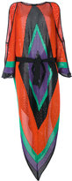 Balmain geometric shoulder slit dress - women - Viscose/Polyamide - 36