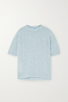 Prada Melange Virgin Wool Sweater - Sky blue