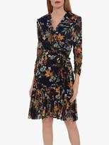 Gina Bacconi Engracia Floral Mini Dress, Navy/Multi