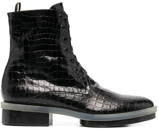 Clergerie Robyn crocodile-effect boots