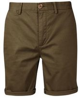 Burton Mens Khaki Stretch Chino Shorts