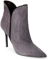 Aperlaï Anthracite Diane Pointed Toe High Heel Booties