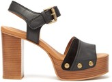 See by Chloe Studded Suede-trim Leather Platform Sandals - Womens - Black