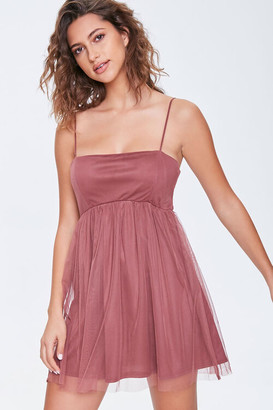 Forever 21 Fit Flare Cami Mini Dress