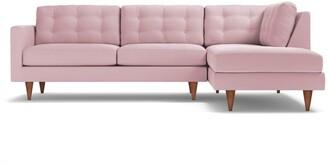 Apt2B Logan 2pc Velvet Sectional Sofa