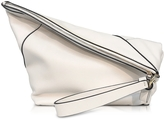 Diane von Furstenberg Origami Ultra White Leather Wristlet Handbag