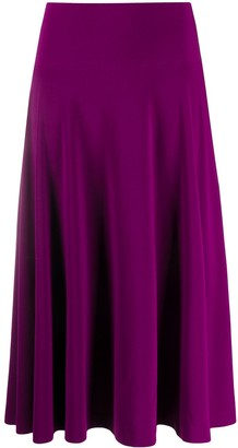 Norma Kamali high-waisted ruffle skirt