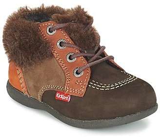 Kickers BABYFROST girls's Mid Boots in Brown