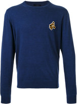 Lanvin embroidered detail jumper - men - Cotton/Wool - S