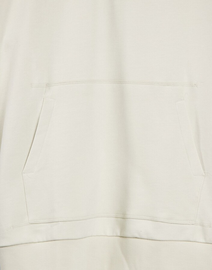 Thumbnail for your product : Weekday Elli organic cotton plant based dye sleeveless hoodie in off white