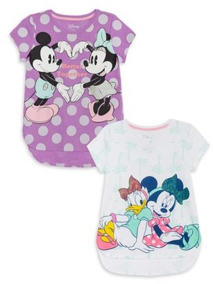 Minnie Mouse Girls 4-16 and Friends Graphic T-Shirts, 2-Pack