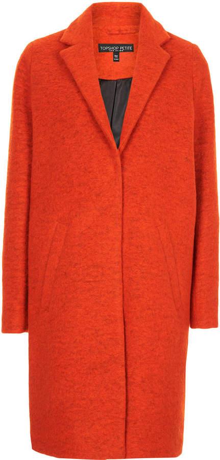 Topshop Petite Wool Boyfriend Coat