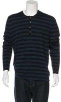 John Varvatos Striped Wool Sweater