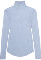 J.Crew Tencel And Cashmere-blend Turtleneck Sweater - Light blue